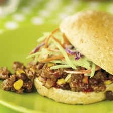 Super Sloppy Joes with Broccoli Slaw